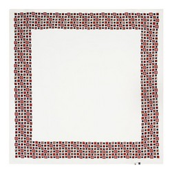 Women's neckerchief, cream-red, 89-7D-S14-X3, Photo 1
