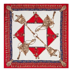 Women's neckerchief, red-navy blue, 89-7D-S14-X5, Photo 1