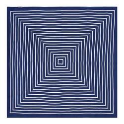 Women's neckerchief, navy blue-white, 89-7D-S14-X7, Photo 1