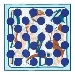 Apaszka damska, niebiesko - zielony, 89-7D-S14-X8, Zdjęcie 1