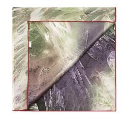 Apaszka damska, zielono - fioletowy, 85-7D-S11-X6, Zdjęcie 1