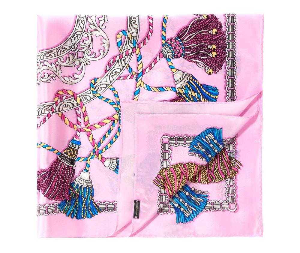 Платок Wittchen 84-7D-S11-X26, розовыйШелковый платок для женщин, сделан чрезвычайно трудоемкой техникой прокатки края. Имеет знак качества материала KING SILK. Яркий, модный, шелковый шарф к тому же очень приятный на ощупь. Такой шарф никогда не будет лишним в гардеробе и придаст образу совершенно новый вид. Он идеально подойдет для стильной леди.<br><br>секс: женщина<br>Цвет: розовый<br>высота (см):: 52<br>ширина (см):: 52