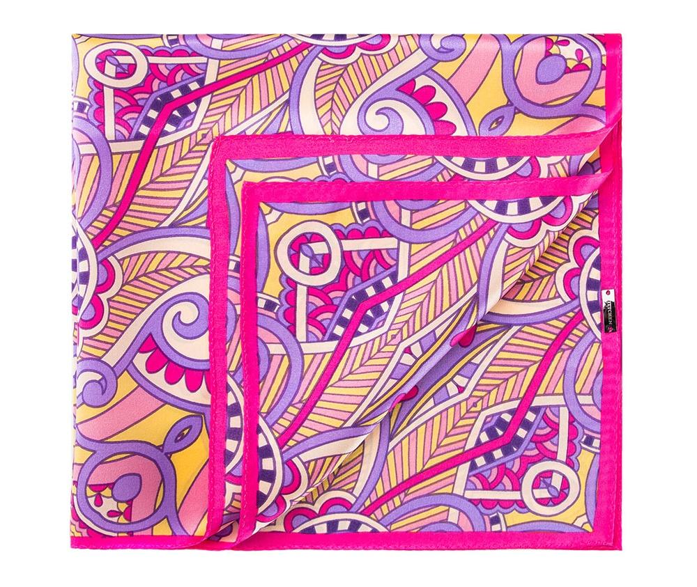 Платок женскийШелковый платок для женщин, сделан чрезвычайно трудоемкой техникой прокатки края. Имеет знак качества материала KING SILK. Яркий, модный, шелковый шарф к тому же очень приятный на ощупь. Такой шарф никогда не будет лишним в гардеробе и придаст образу совершенно новый вид. Он идеально подойдет для стильной леди.<br><br>секс: женщина<br>Цвет: фиолетовый<br>материал:: Шелк