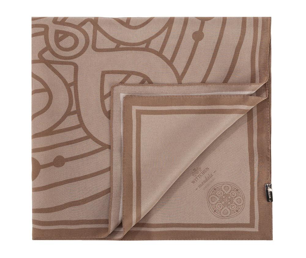 Шарф женский Wittchen 83-7D-S13-8, серыйЖенский шейный платок выполнен  из благородного шелка c знаком  наивысшего качества King Silk. Модель с узором мандалы - символом гармонии и совершенства , в сочетании с уникальным материалом создаст очень женственный образ.<br><br>секс: женщина<br>Цвет: серый<br>материал:: Шелк<br>высота (см):: 55<br>ширина (см):: 55