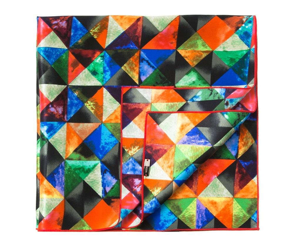 Шарф женскийЖенский шейный платок выполнен из шелка с знаком наивысшего качества King Silk. Узорная модель идеально сочетается  с женственным минималистическим стилем.<br><br>секс: женщина<br>Цвет: разноцветный<br>материал:: Шелк