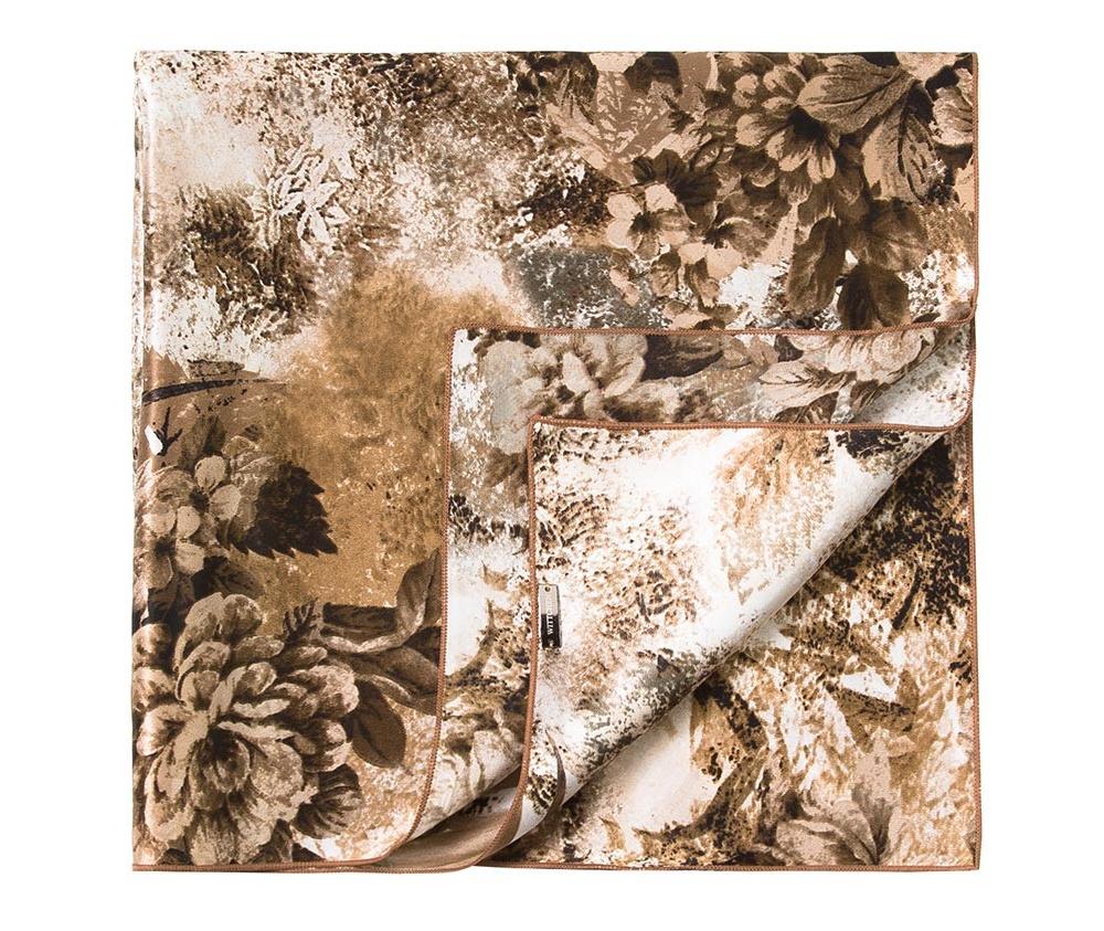 Шарф женскийЖенский шейный платок выполнен из шелка с знаком наивысшего качества King Silk. Узорная модель идеально сочетается  с женственным минималистическим стилем.<br><br>секс: женщина<br>Цвет: коричневый<br>материал:: Шелк<br>высота (см):: 55<br>ширина (см):: 55