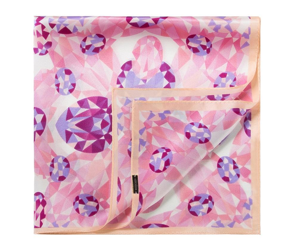 Шарф женскийЖенский шейный платок выполнен из шелка с знаком наивысшего качества King Silk. Преимуществом модели являются ее яркие и неординарные узоры, благодаря чему платок может заменить ювелирные изделия.<br><br>секс: женщина<br>Цвет: разноцветный<br>материал:: Шелк