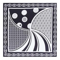 Apaszka z jedwabiu, czarny, 93-7D-S01-1, Zdjęcie 1