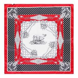 Apaszka z jedwabiu, czerwono - biały, 93-7D-S01-14, Zdjęcie 1