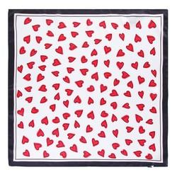 Apaszka z jedwabiu, czerwono - czarny, 93-7D-S01-32, Zdjęcie 1