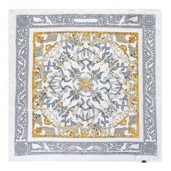 Apaszka z jedwabiu, srebrno - złoty, 93-7D-S01-38, Zdjęcie 1
