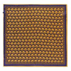 Apaszka z jedwabiu, ciemny granat, 93-7D-S01-44, Zdjęcie 1