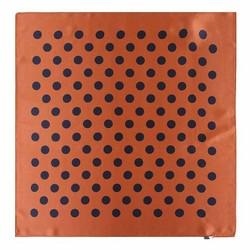Apaszka z jedwabiu, brązowo - czarny, 93-7D-S01-46, Zdjęcie 1