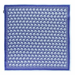 Apaszka z jedwabiu, błękitno - granatowy, 93-7D-S01-7, Zdjęcie 1