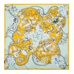 Women's silk scarf, blue-yellow, 91-7D-S14-X11, Photo 1