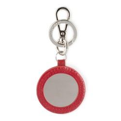 Brelok skórzany okrągły, czerwony, 03-2B-001-S3, Zdjęcie 1