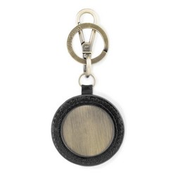 Brelok skórzany okrągły, czarny, 03-2B-001-Z1, Zdjęcie 1