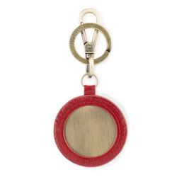 Brelok skórzany okrągły, czerwony, 03-2B-001-Z3, Zdjęcie 1