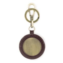 Brelok skórzany okrągły, brązowy, 03-2B-001-Z4, Zdjęcie 1