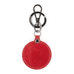 Brelok skórzany okrągły, czerwony, 03-2B-002-G3, Zdjęcie 1