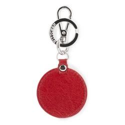 Brelok skórzany okrągły, czerwony, 03-2B-002-S3, Zdjęcie 1