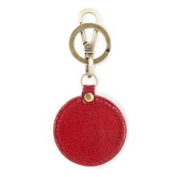 Brelok skórzany okrągły, czerwony, 03-2B-002-Z3, Zdjęcie 1