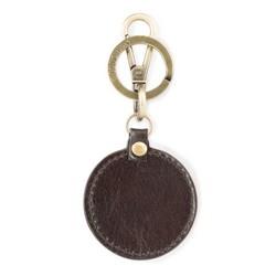 Brelok skórzany okrągły, złoto - brązowy, 03-2B-002-Z4, Zdjęcie 1