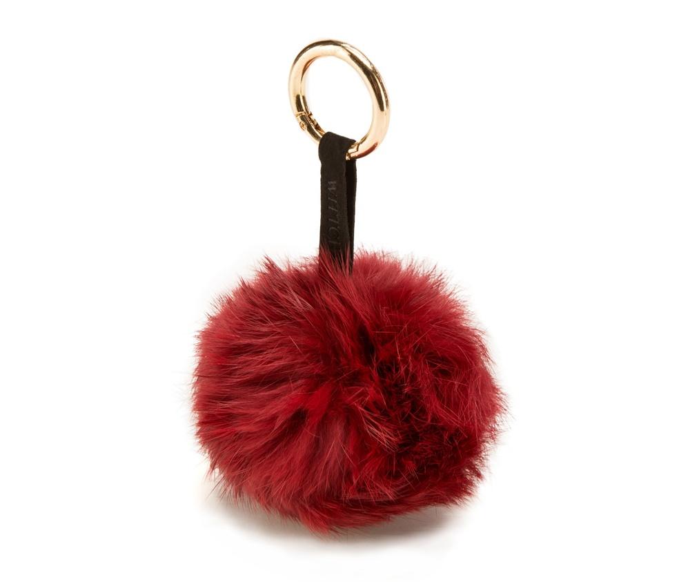 Брелок Wittchen 85-2F-200-3, красныйБрелок<br><br>секс: женщина<br>материал:: Мех шерстяной<br>высота (см):: 13<br>ширина (см):: 9
