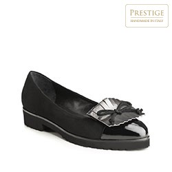 Women's ballerina shoes, black, 85-D-104-1-38, Photo 1