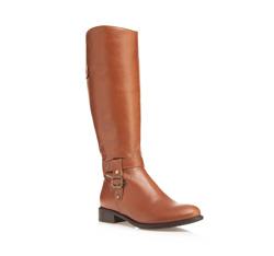 Women's knee high boots, light brown, 85-D-210-5-35, Photo 1