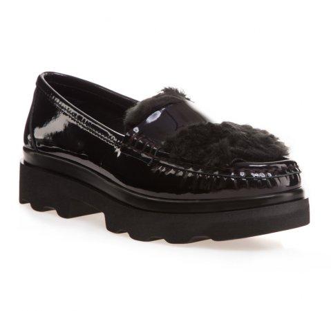 buty damskie czarne lakierowe mokasyny