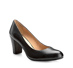 Women's court shoes, black, 85-D-502-1-37, Photo 1