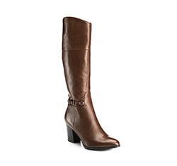 Women's knee high boots, brown, 85-D-512-4-39, Photo 1