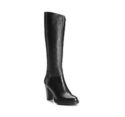 Women's knee high boots, black, 85-D-513-1-38, Photo 1