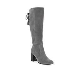 Women's knee high boots, grey, 85-D-904-8-41, Photo 1