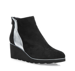 Buty damskie, czarno - srebrny, 85-D-911-1S-37, Zdjęcie 1