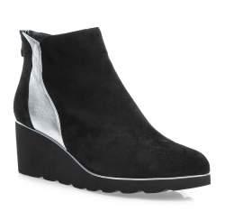 Buty damskie, czarno - srebrny, 85-D-911-1S-40, Zdjęcie 1