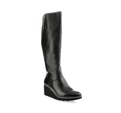 Knee high boots, black, 85-D-912-1-38, Photo 1