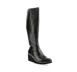 Knee high boots, black, 85-D-912-1-39, Photo 1