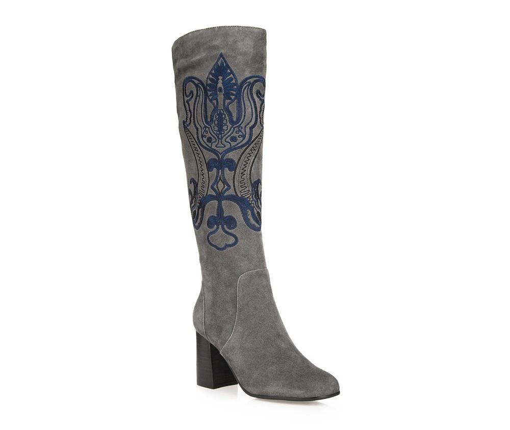 Обувь женскаяОбувь женская<br><br>секс: женщина<br>Цвет: серый<br>Размер EU: 37<br>материал:: Натуральная кожа<br>примерная высота каблука (см):: 7,5
