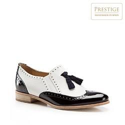 Buty damskie, biało - czarny, 86-D-107-0-38, Zdjęcie 1