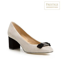 Buty damskie, beżowo - czarny, 86-D-108-9-35, Zdjęcie 1