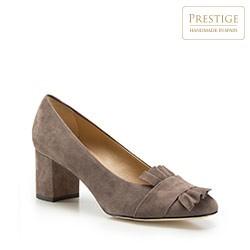 Buty damskie, beżowo - szary, 86-D-109-8-37, Zdjęcie 1