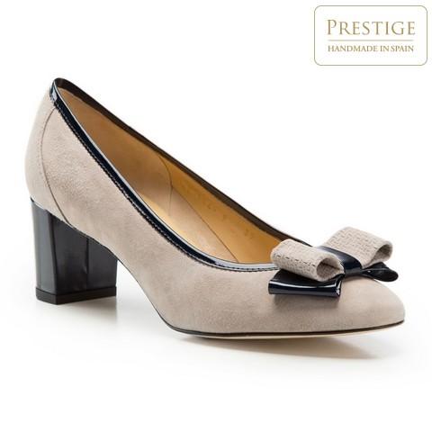 Buty damskie, beżowo - granatowy, 86-D-114-9-40, Zdjęcie 1