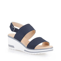Women's sandals, navy blue, 86-D-306-7-36, Photo 1
