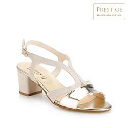 Buty damskie, beżowo - złoty, 86-D-401-9-35, Zdjęcie 1