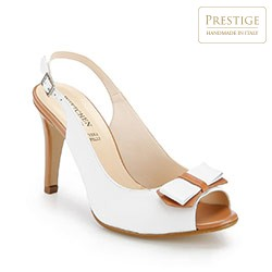 Buty damskie, biało - brązowy, 86-D-406-0-35, Zdjęcie 1