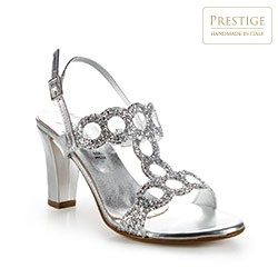 Buty damskie, srebrny, 86-D-407-S-39, Zdjęcie 1