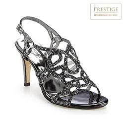 Buty damskie, srebrno-czarny, 86-D-408-1-36, Zdjęcie 1