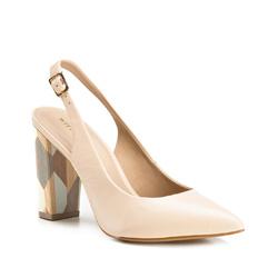 Buty damskie, jasny beż, 86-D-552-9-35, Zdjęcie 1